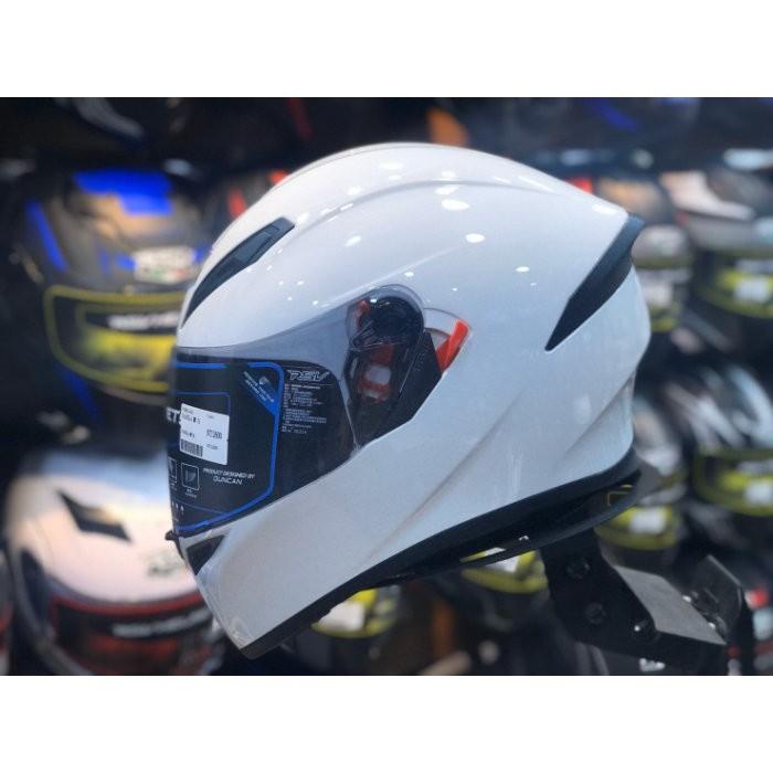 RSV PAMELA 白色 素色 內建墨片 全罩式安全帽