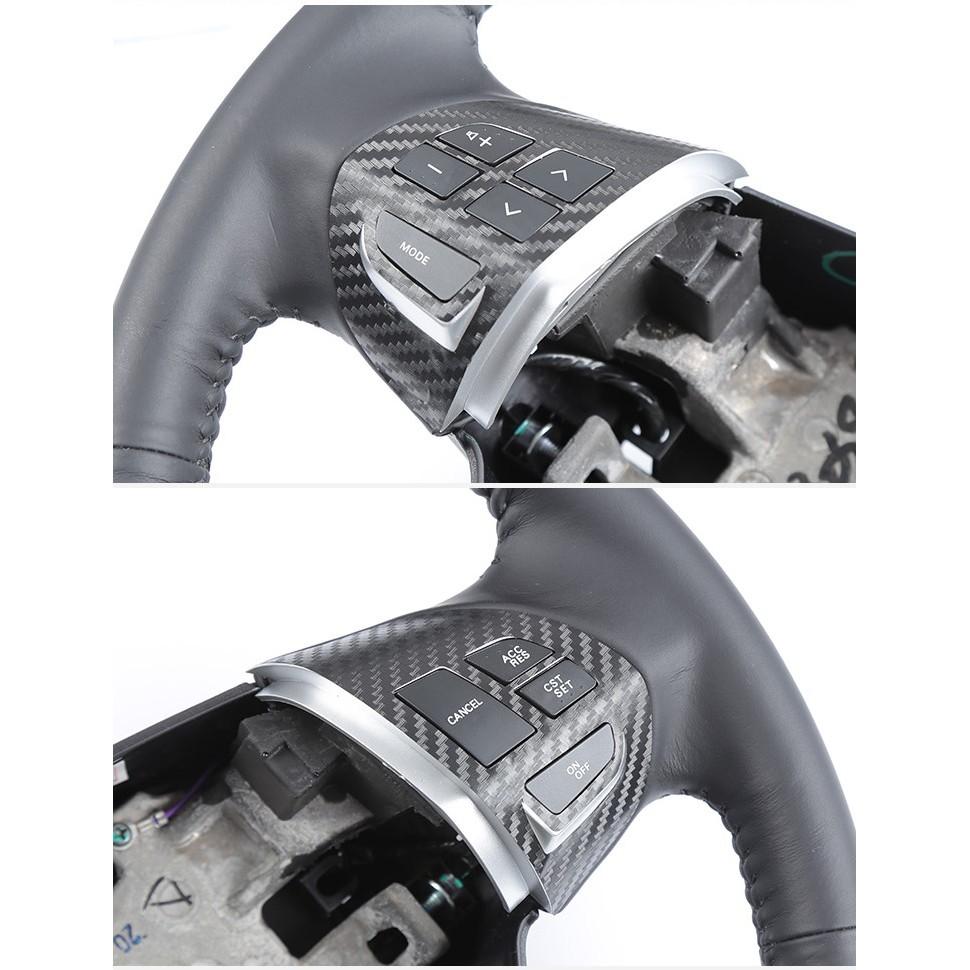 台灣現貨速寄三菱FORTIS Outlander立體碳纖維方向盤音控定速商標貼紙(面交自取須滿200元)