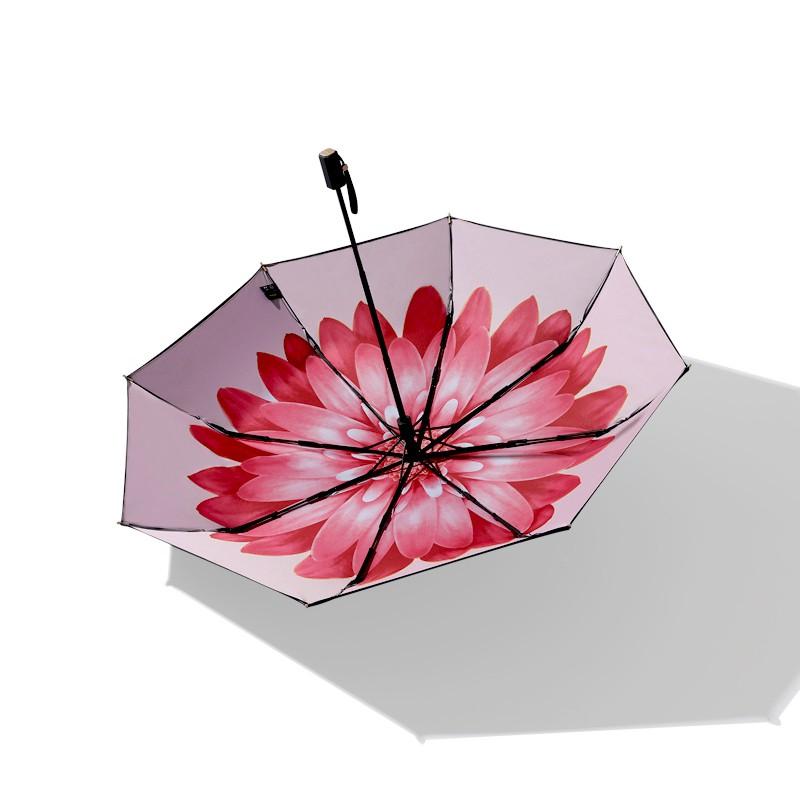 Banana 小黑傘   三折 晴雨傘 男女防曬防紫外線 遮陽傘 香蕉傘下 雨傘  -緋瑤