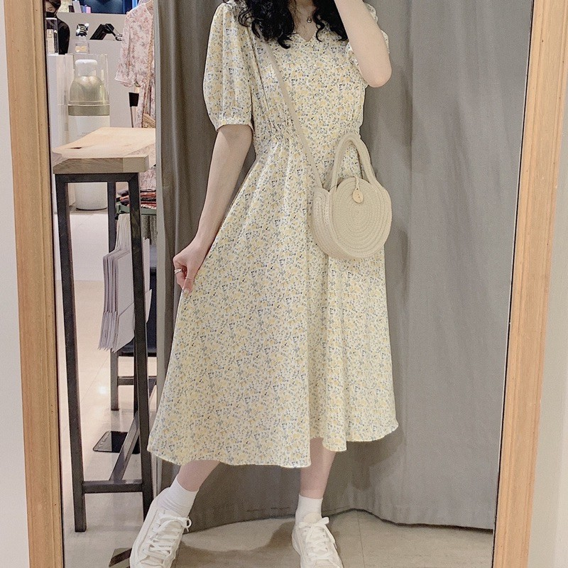 0A059幸運花影唯美洋裝