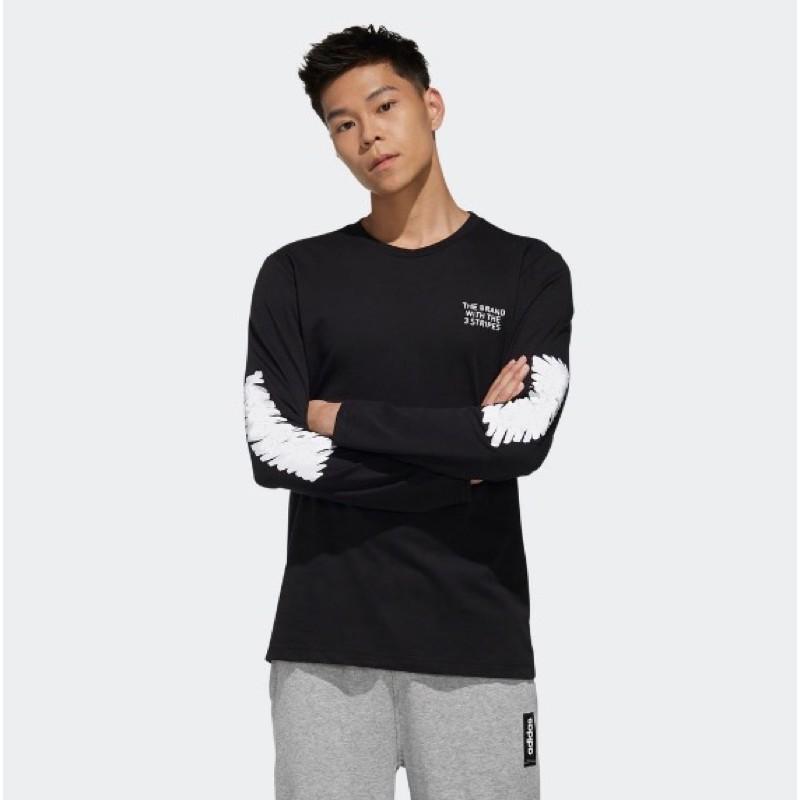 【名足坊】Adidas 愛迪達 男款 黑色 衛衣 長袖 大學T 款號 : FM6100