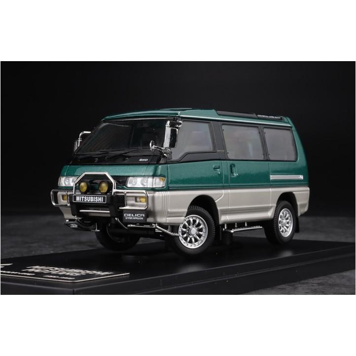 全球限量999台 1/43 Mitsubishi 三菱 DELICA 得利卡4X4 4WD模型車綠色