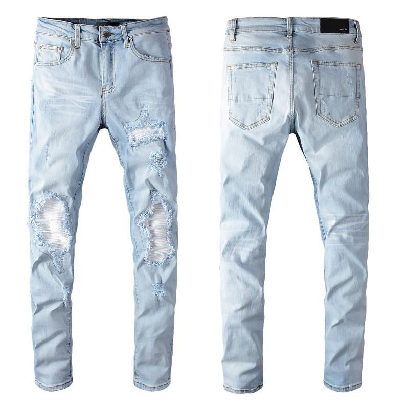 2021SS熱銷款 BALMAIN JEANS牛仔褲 修身小腳牛仔褲 男破洞拉鏈潮男褲子 巴爾曼直筒牛仔褲