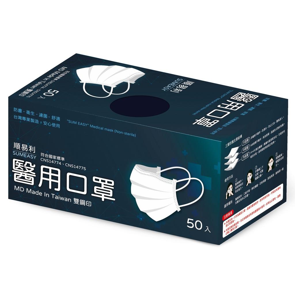 品名:順易利醫用口罩(未滅菌)50入/1盒