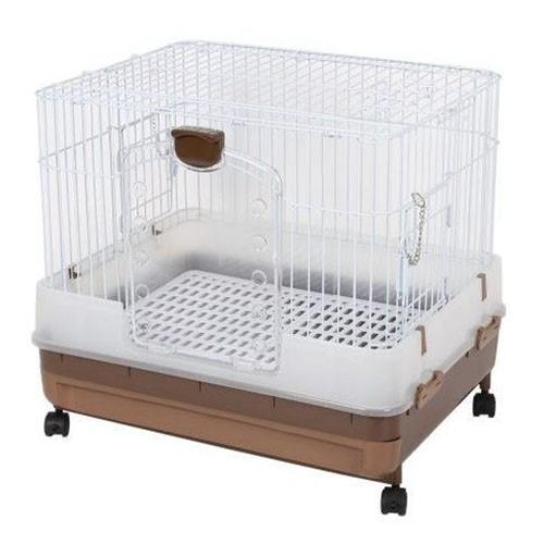 Marukan 豪華抽屜式精緻兔籠 天竺鼠籠 小動物飼養籠MR-994-茶色 三門好開好關【寵樂】