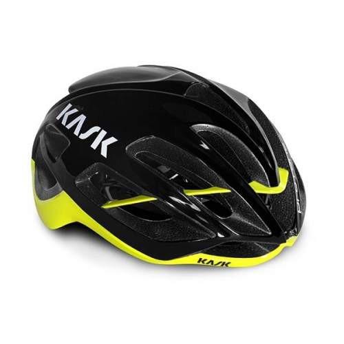 KASK PROTONE -黑螢光黃安全帽/頭盔-崇越單車