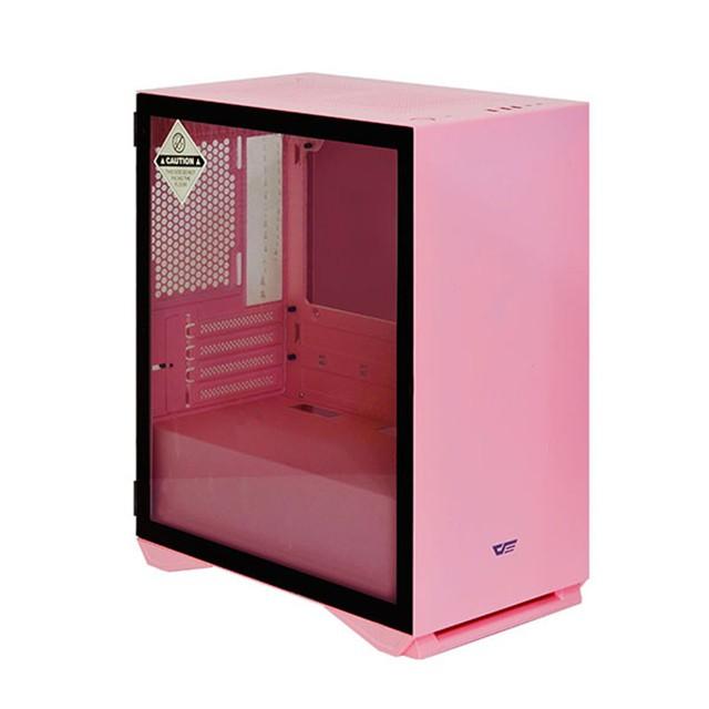 darkFlash DLM22 M-ATX 電腦機殼(粉紅) 鋼化玻璃