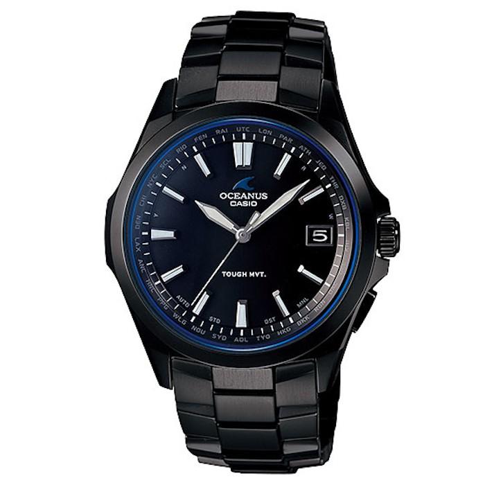 【日本原裝正品】卡西歐錶 CASIO OCEANUS 海神女表 太陽能電波鈦金屬手錶 OCW-S100 黑 防水 夜光
