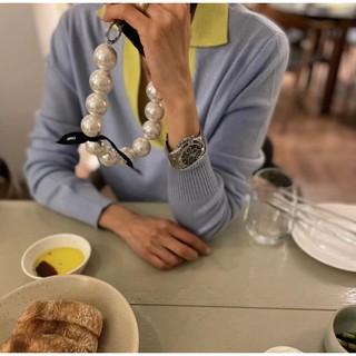 賣場現貨速發哦**bene定制韓國博主ins超大珍珠手機鏈配飾掛件短手腕小香風時尚、