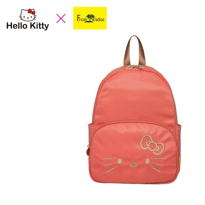 Hello Kitty x Freak Paradise 經典凱蒂-迷你後背包-粉橘 FPKT0D001CR