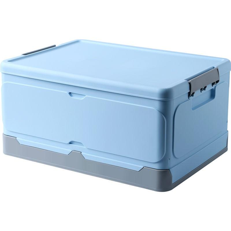 折疊收納箱 下掀式側開貨櫃箱 透明整理箱 折疊筐袋子  可折疊收納箱學生宿舍放書籍裝衣服收納整理神器塑料家用儲物箱子