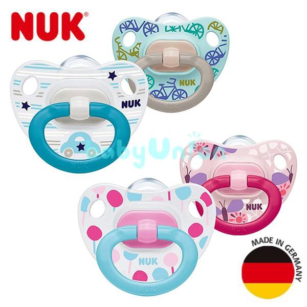 NUK - 印花矽膠安撫奶嘴 2入 (款式隨機)