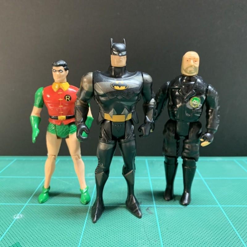 1995 Kenner 蝙蝠俠 +1898 羅賓 + 1989 警長 三人合售Batman DC
