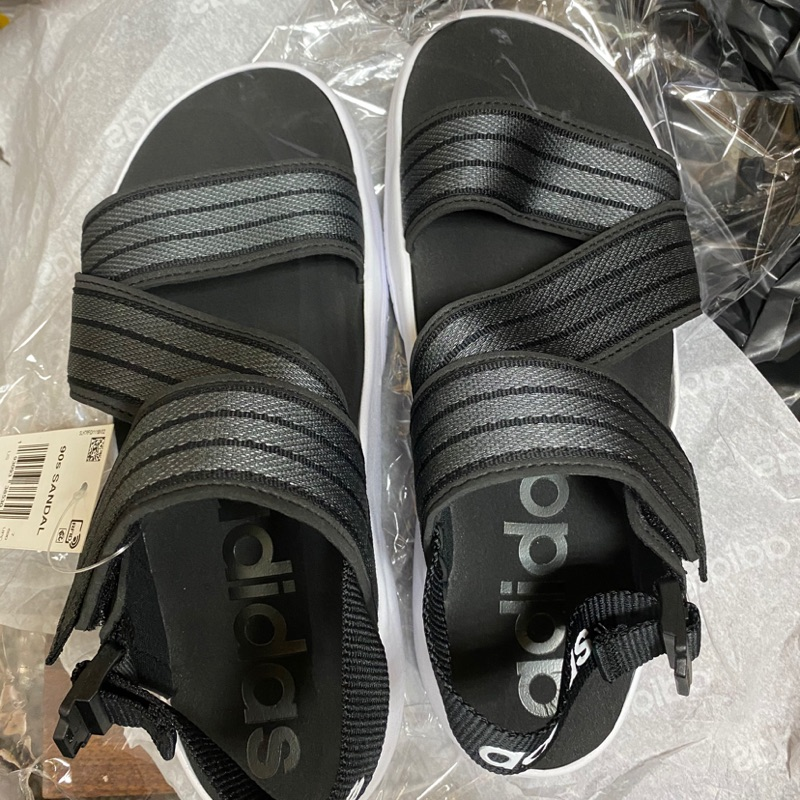 Adidas 90s Sandals 女款 繃帶涼鞋  黑色