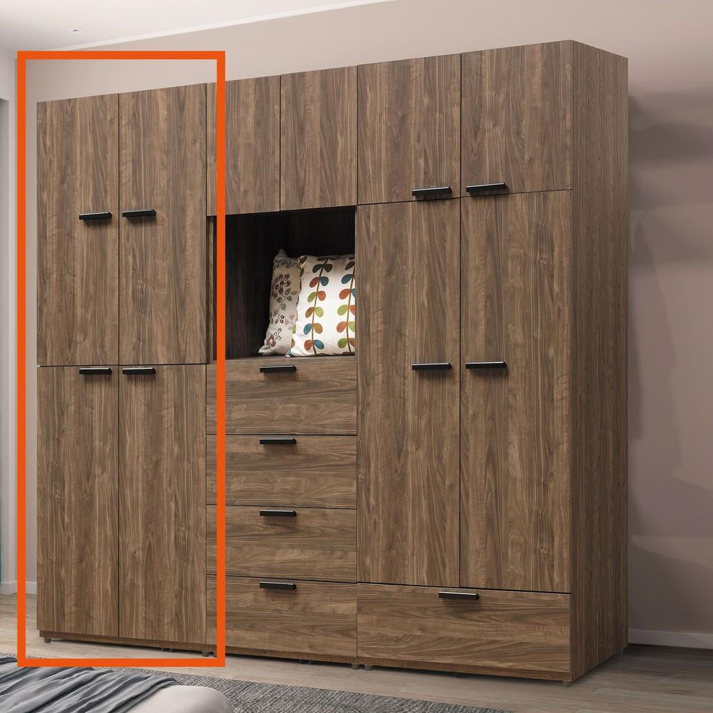 【75cm四門衣櫃-B98-02】木心板 推門滑門開門 衣服收納 免組裝【金滿屋】