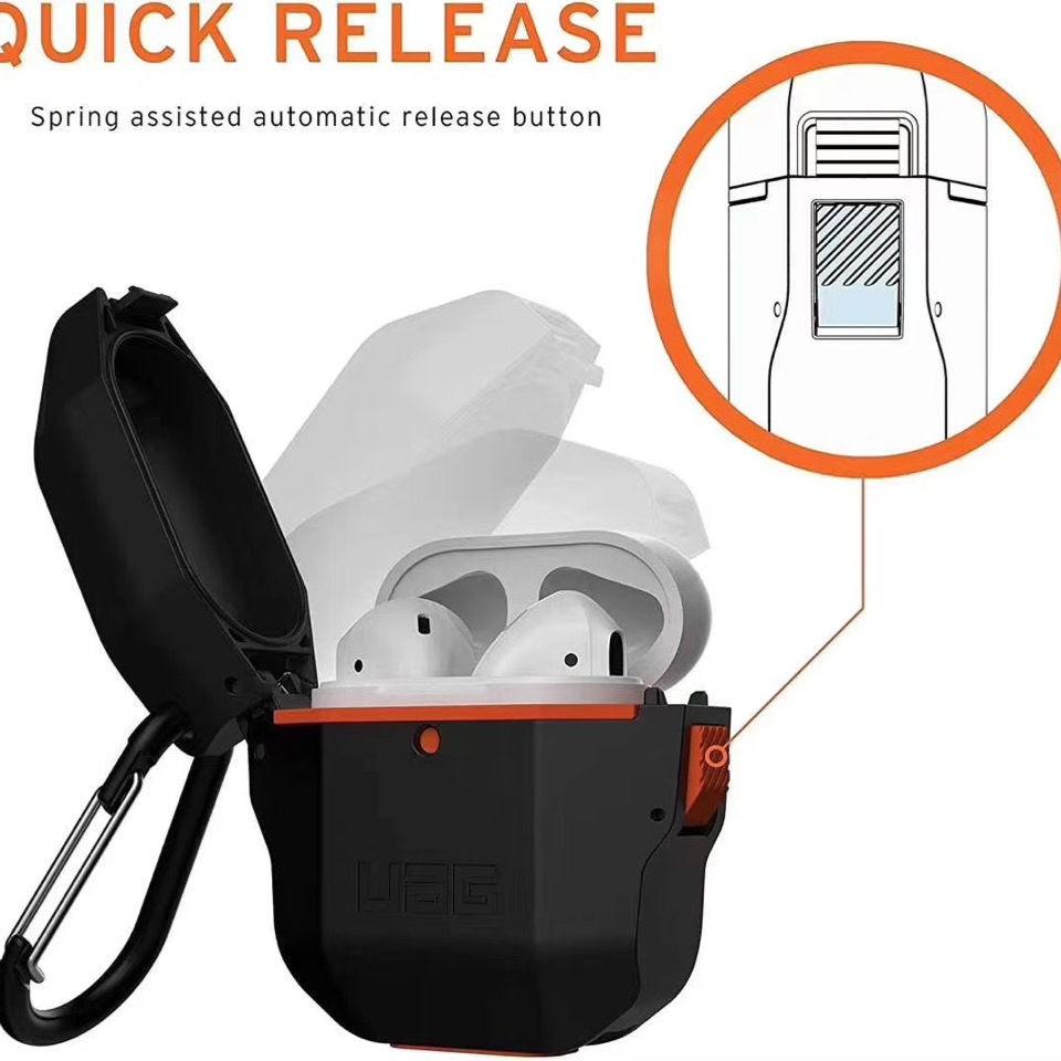 UAG耳機殼左右開AirPods pro防摔套蘋果耳機2代新款運動硬殼防水