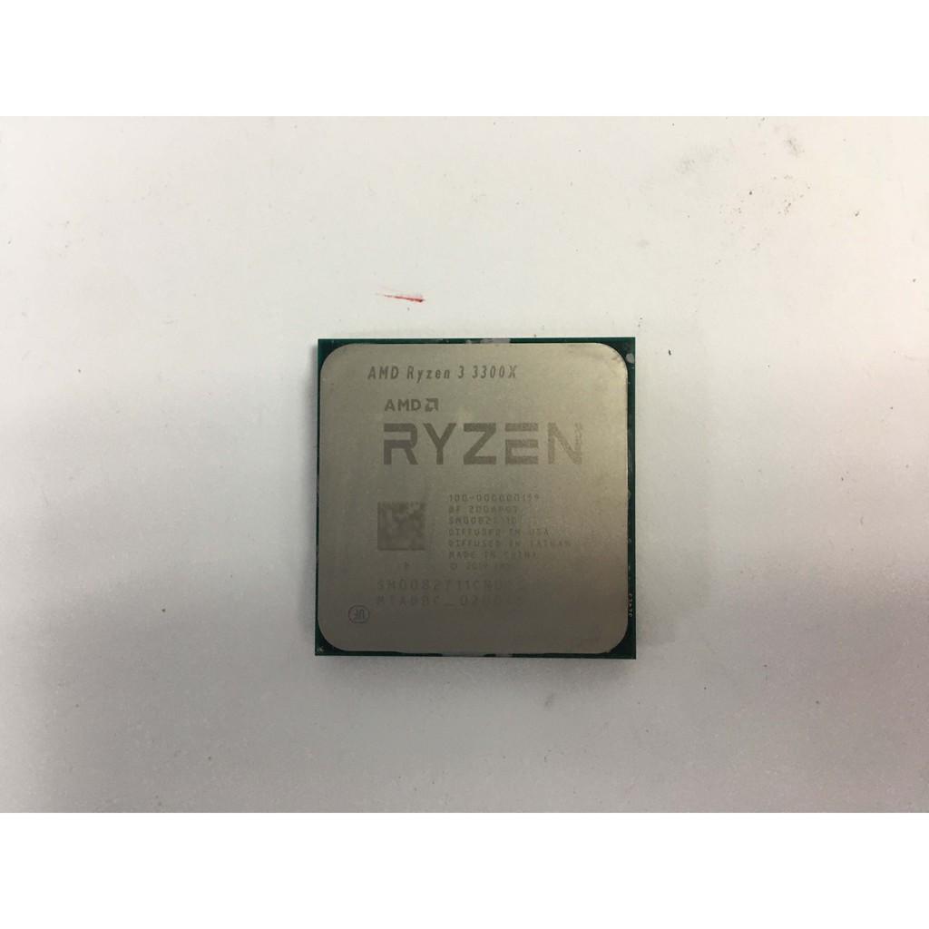 【已賣完】AMD Ryzen 3 3300X無盒-4C8T-PCIe4.0(福利品)--現在沒貨