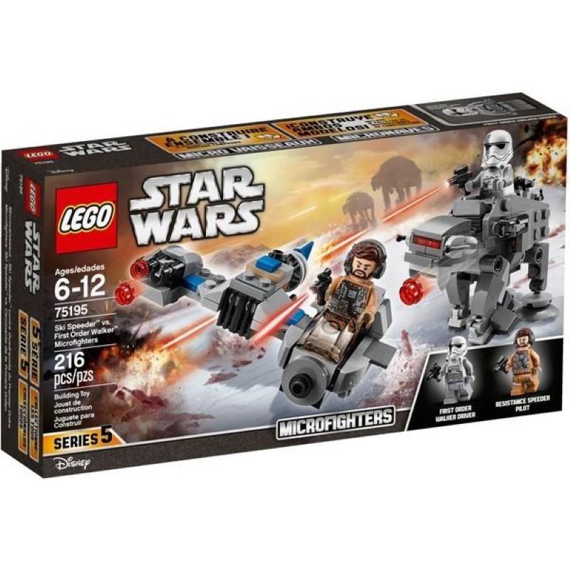 樂高LEGO STAR WARS 雪地噴射機 vs. 第一軍團走獸  玩具e哥75195