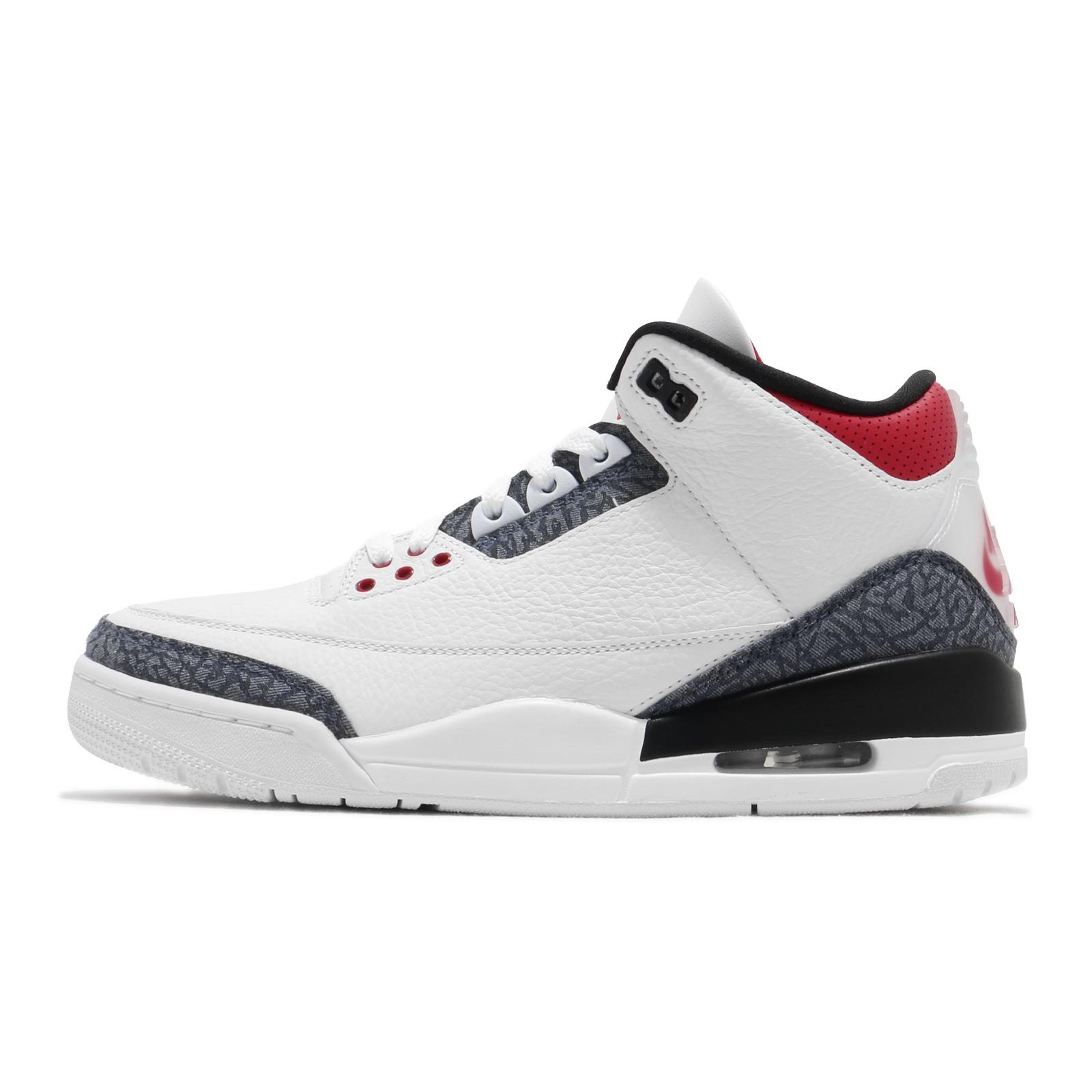 Nike Air Jordan 3 Retro SE Denim Fire Red 白 灰 紅 III 3代 【ACS】