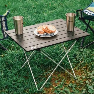 MOBI GARDEN 牧高笛小戶型可折疊四方桌子折疊餐桌正方形簡易四方桌 NXLQI65002 黑色 新北市