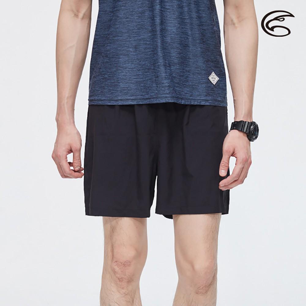 ADISI 男慢跑短褲AP2011098 (S-2XL)【黑色】單件式 輕薄 快乾 透氣