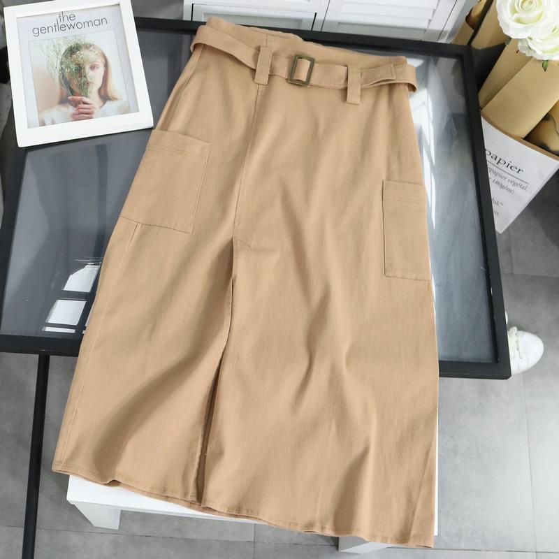 淺駝色半長裙FTB15 || MMP中大尺碼
