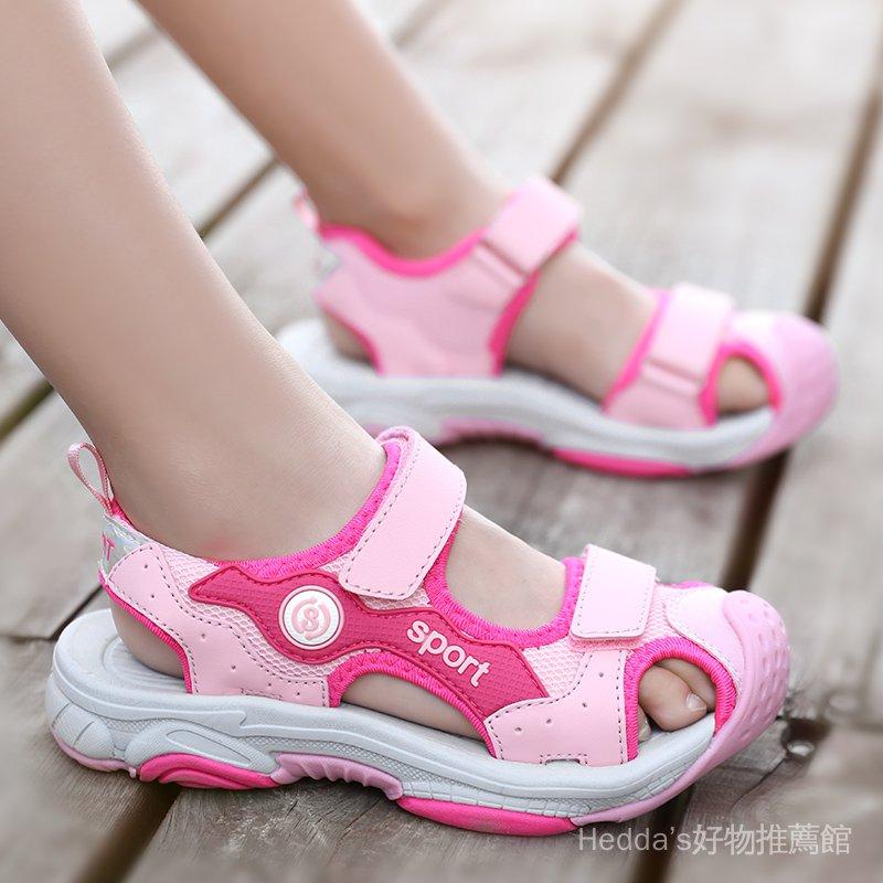 LYoR 韓版包頭男童2020溯溪涼鞋沙灘鞋運動迪卡儂中大女童新款兒童夏季
