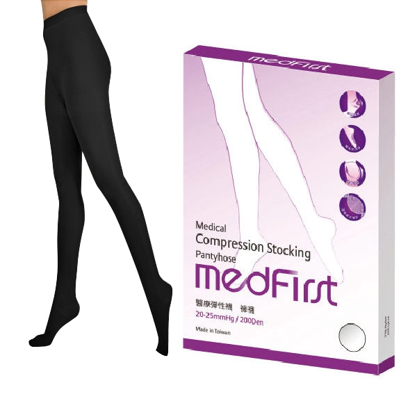Medfirst 醫療彈性襪 褲襪 200D 黑色 (S號~XL號)【杏一】