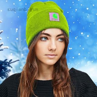 Suqianbigsm Carhartt 豆豆帽子女士男士亞克力手錶帽子 A18 無簷小便帽冬季保暖針織帽