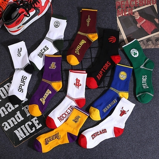 秋冬新款中高筒籃球運動襪純棉吸汗舒適NBA球隊logo襪子