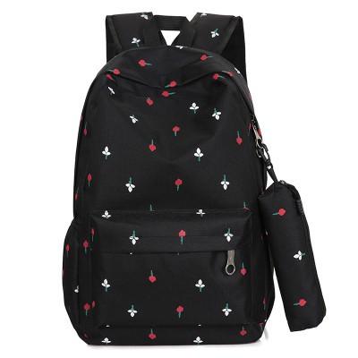 尼龍後背包男 Z 雙肩包正韓卡通動漫小清新書包男女中小學生旅行包防潑水背包