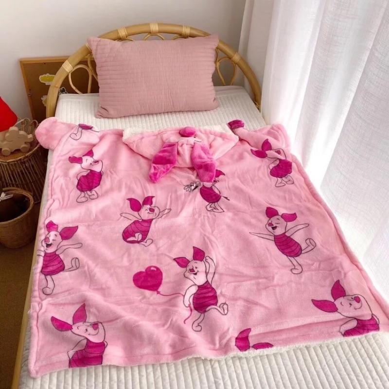 小熊維尼毛毯 小豬 美國毛毯空調毛毯 披肩毛毯 法蘭絨 羊絨毛毯