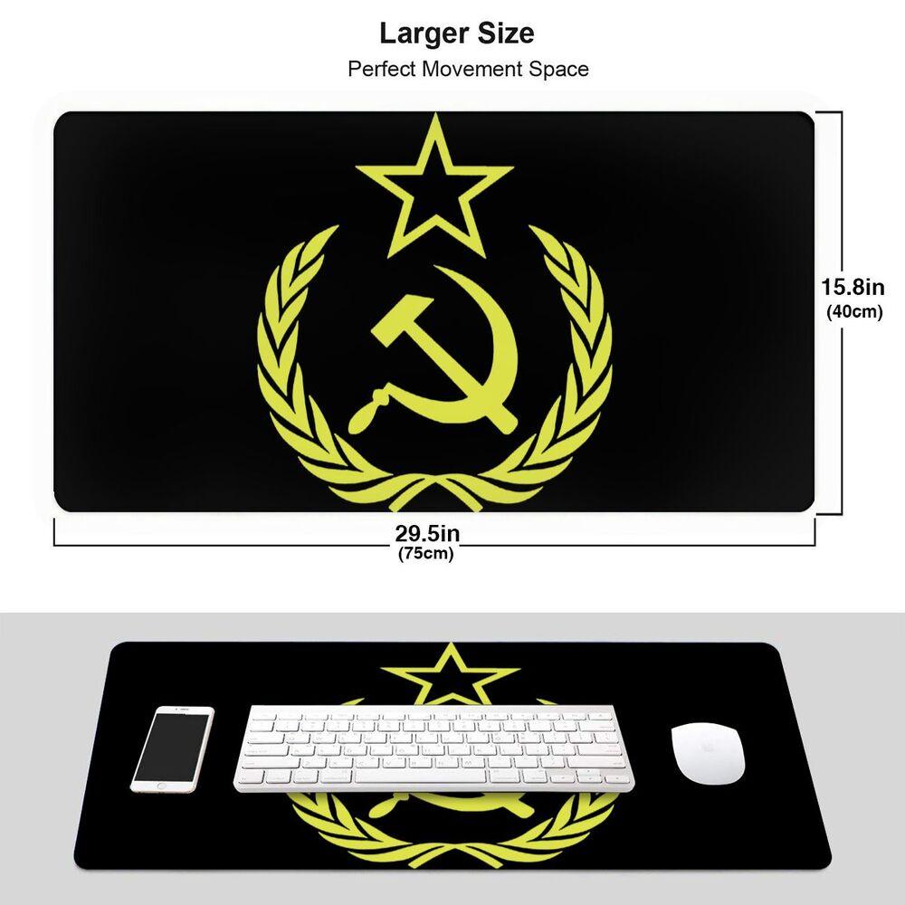 超大尺寸天然橡膠遊戲鎖邊鼠標墊俄羅斯的象徵蘇聯錘子和鐮刀