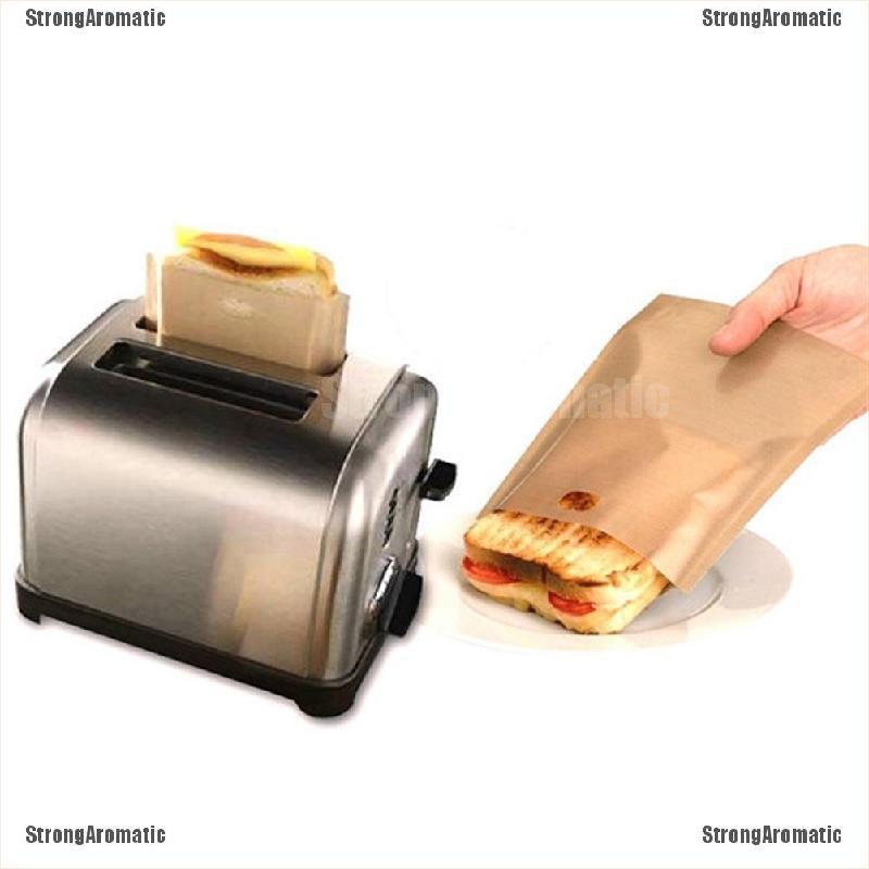 STRA可重複使用的吐司烤麵包機袋不粘烤箱烤架Panini披薩三明治袋