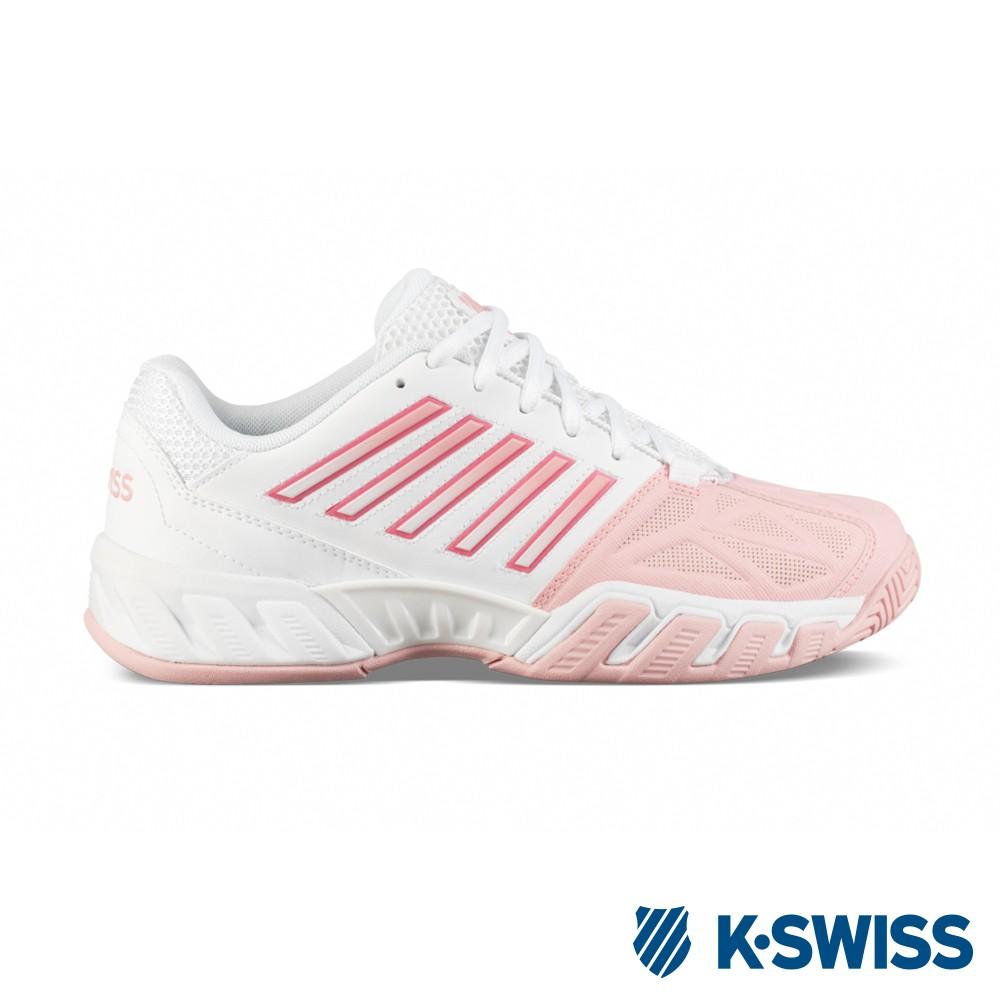 【零碼出清】K-SWISS Bigshot Light 3輕量網球鞋-女-白/粉紅