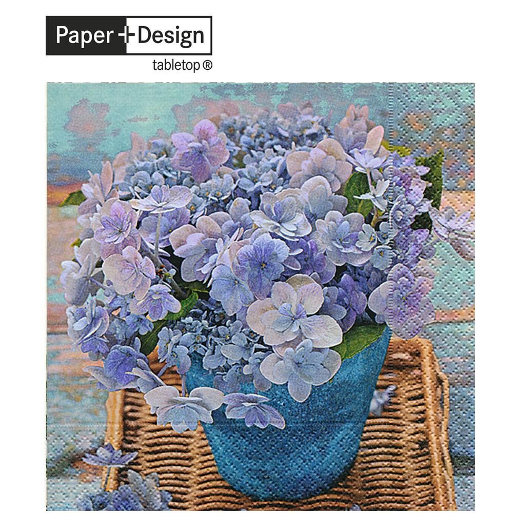 Paper+Design 德國進口餐巾紙 藍色的繡球花 Blue hydrangea 20張/包