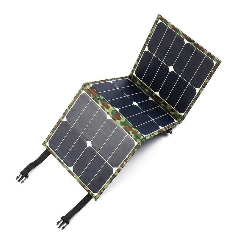 【砂糖優選】單晶硅SUNPOWER晶片100W太陽能折疊包單晶太陽能板戶外充電包充電電腦手機充電--寶充電器