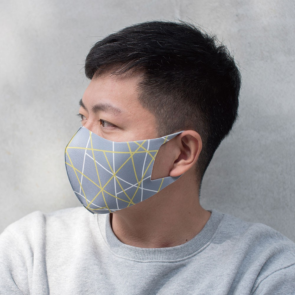 【Prodigy波特鉅】台灣製造SGS認證-3D抗UV抗菌透氣口罩1入組-M/S