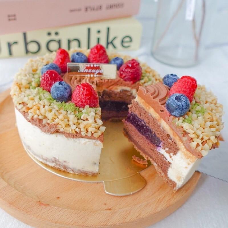 杏屋,藍莓庫利 5吋蛋糕 堅持手作 甜點 彌月 伴手禮 團購美食