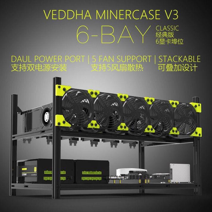 Bitcoin 矿机机架 挖矿多显卡叠加机架美國維達ETH6顯卡/可疊加/多顯卡機箱/深度學習/全鋁機架/
