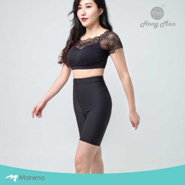 【Marena 瑪芮娜】日常 塑身 運動 系列 輕塑 高腰 五分 塑身褲