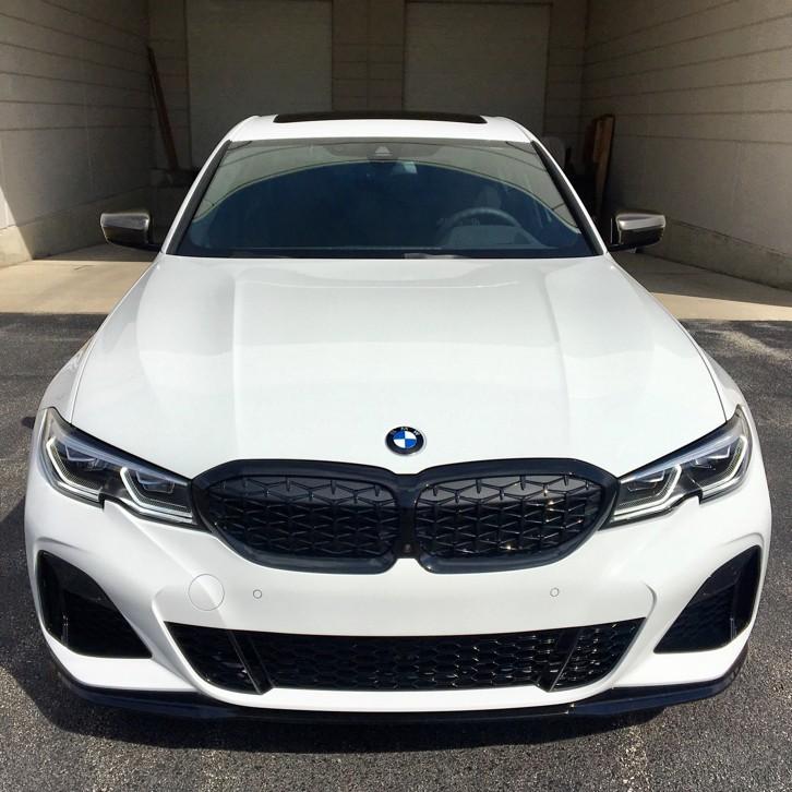 預購**德國BMW原廠G20 G21 3er鑽石菱格高亮黑水箱罩滿天星 M Performance DIAMOND