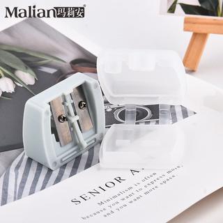 ☍☼™瑪莉安兩個裝雙孔卷筆 ABS聚丙烯防塵套鋒利轉筆美妝工具8220
