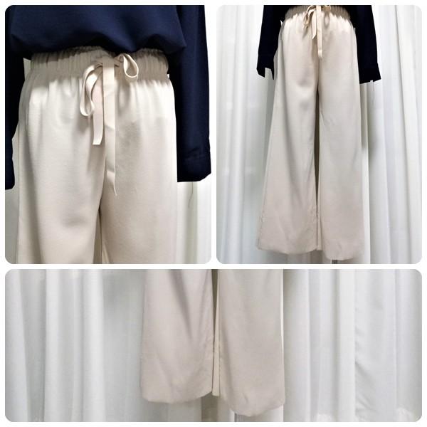 【A.C.Y.C】現貨下殺 米白色★綁帶顯瘦落地寬褲