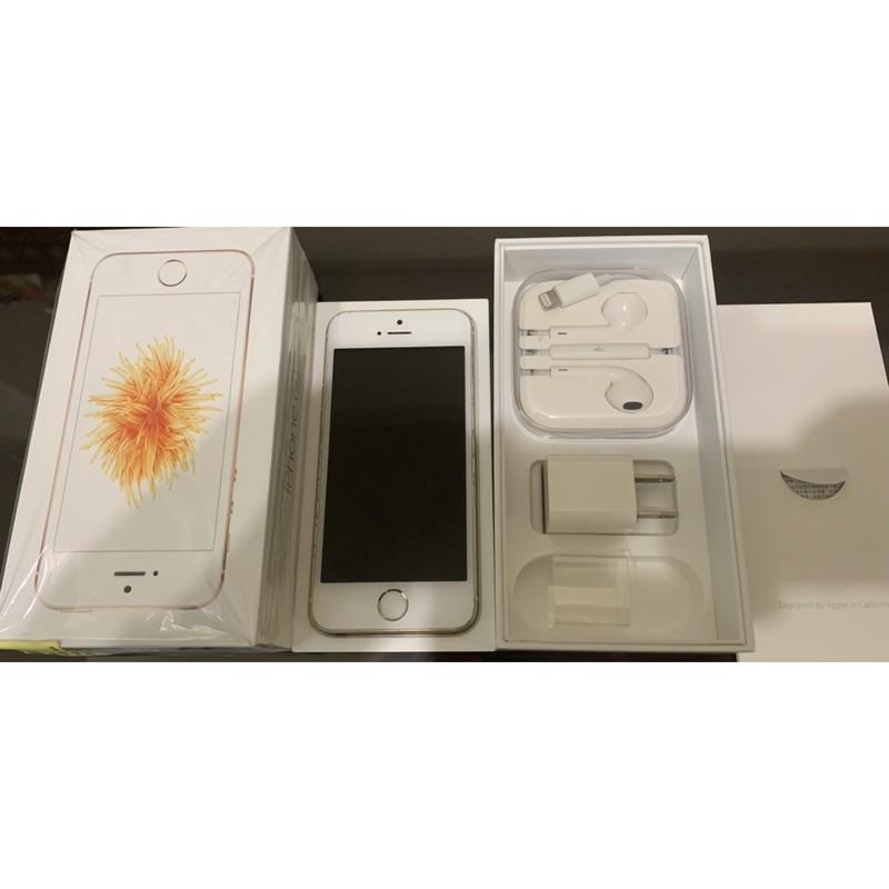 iPhone SE 金色gold 64g二手