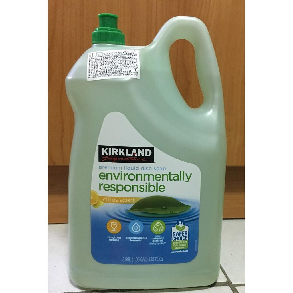 Costco好市多 [代購/預購] Kirkland Signature 科克蘭 超濃縮環保洗碗精 3.99公升