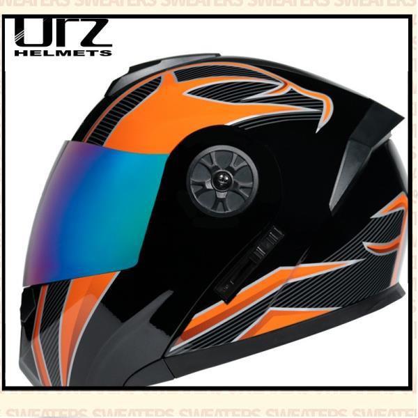 ORZ電動電瓶頭盔灰男女士全盔四季揭面盔夏季安全帽