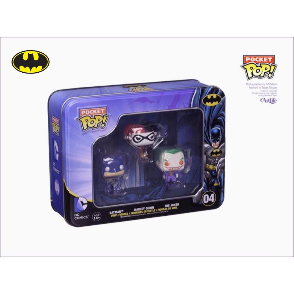 Artlife ㊁ FUNKO Pocket POP VINYL DC BATMAN 蝙蝠俠 小丑 鐵盒迷你公仔