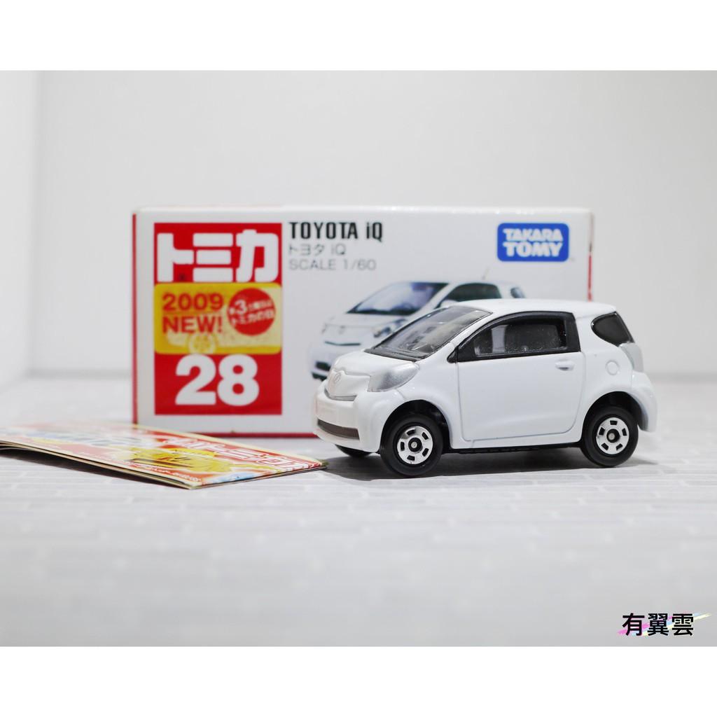 [有翼雲] Toyota iQ 日版 新車貼 TOMICA No.28 豐田 絕版 油電車 Hybrid 新車紙