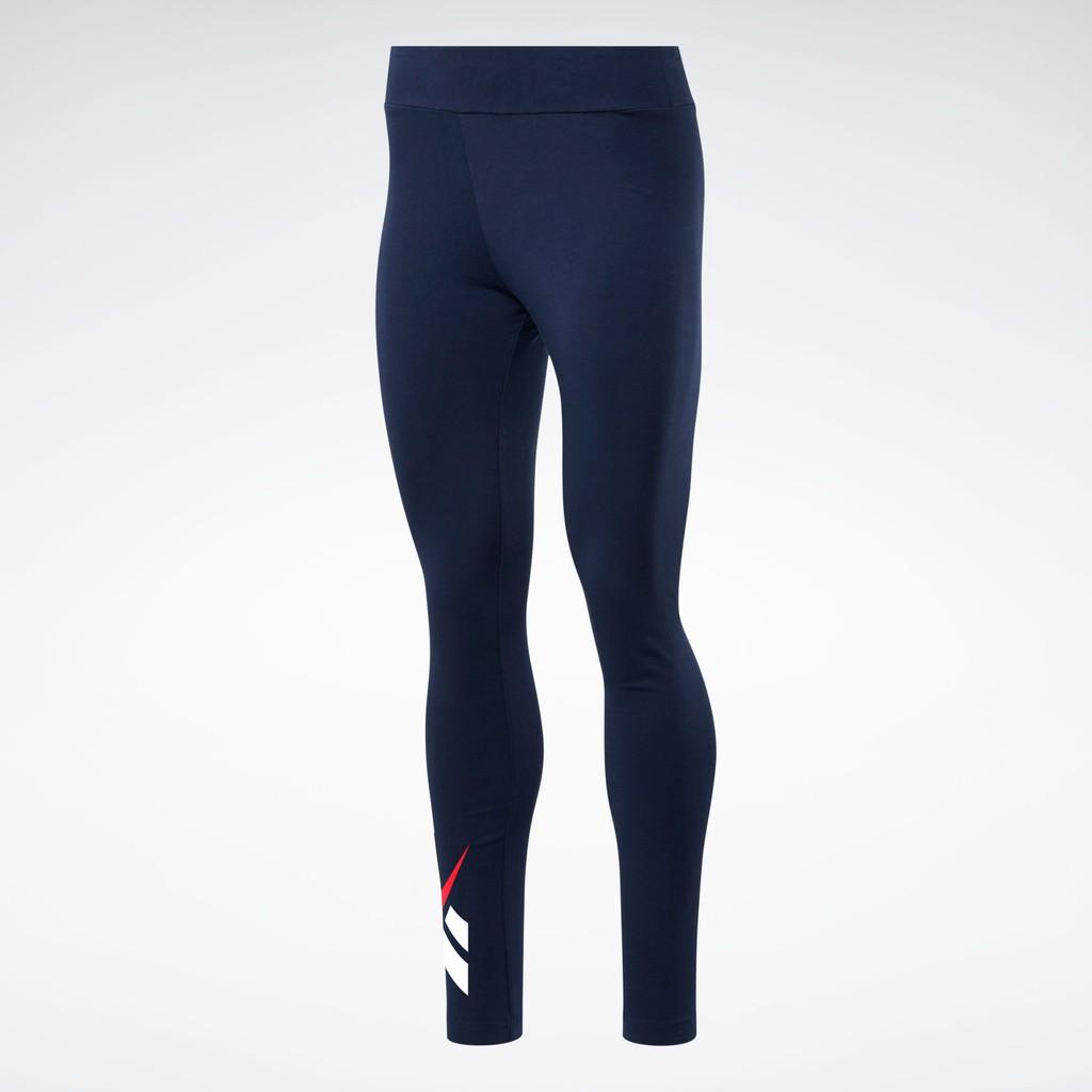 REEBOK CLASSICS VECTOR 女裝 長褲 緊身 慢跑 訓練 排汗 透氣 藍【運動世界】FT8173